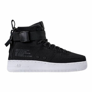 Details zu Nike SF Air Force 1 Mid (GS) # AJ0424 004 Black White Big Kids SZ 4 7