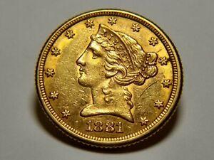 liberty head half eagle 5 dollar gold coins 💕