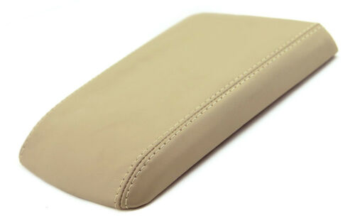 Beige Center Console Lid Armrest Cover For 04-09 Cadillac SRX Synthetic Leather