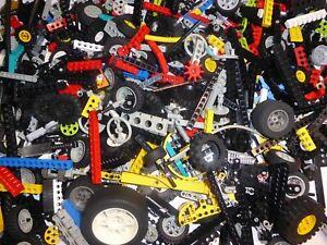 100-LEGO-TECHNIC-pieces-lochstangen-roues-Liftarme-engrenages-technique-liasse