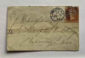 Antique-Penny-Red-Cover-GB-BG-Plate-154-London-June-1873