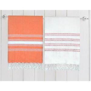2X-Turkish-Cotton-Peshtemal-Towel-Fouta-for-Beach-Bath-Spa-Yoga-Gym-Pool