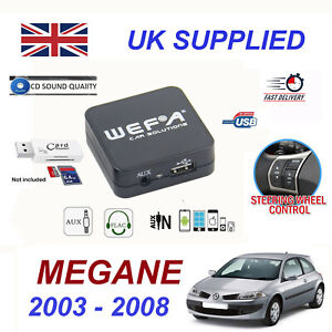 For-Renault-MEGANE-MP3-SD-Card-ReaderUSB-CD-AUX-Audio-Adapter-Digital-CD-Changer