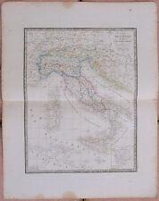 1855, Carte : ITALIE ANCIENNE - 53 x 67 cm.- Andriveau Goujon