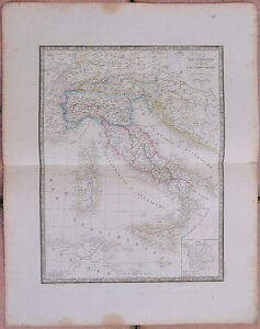 1855- Carte - ITALIE ANCIENNE - 53 x 67 cm.- Andriveau Goujon 5rKeMkWU-08023007-423135228
