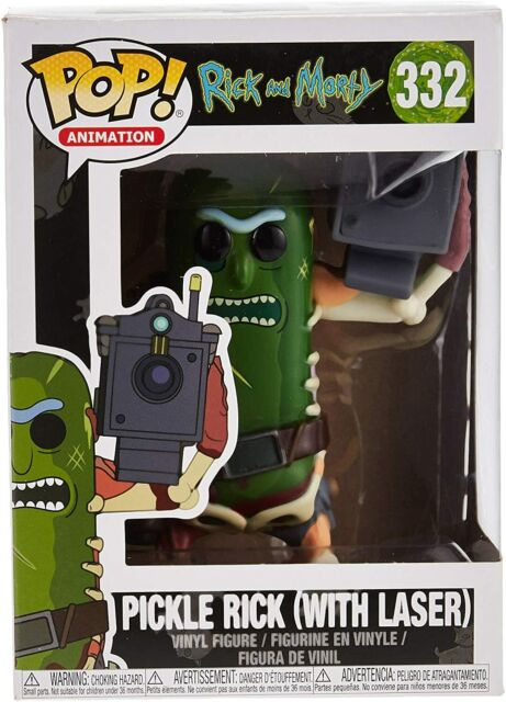 NEW Rick and Morty Pickle Rick with Laser Funko Pop! Vinyl Figure #332