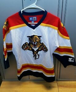 0998c9342c1 Image is loading Authentic-Vintage-Florida-Panthers-NHL-Starter-Jersey -Small-