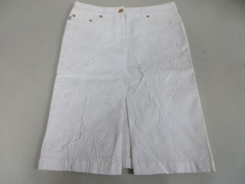 Pencil Embroidery bianca Cotton 24 Icejeans Iceberg Stretch String Gonna 40 CqfvpwX