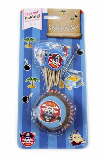 48pc pirates et la princesse cupcake set cas toppers fête d/'anniversaire décoration