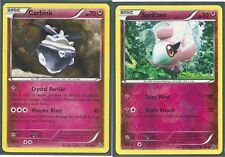 CARBINK (Holo) SPRITZEE (R-Holo) XY Flashfire Fairy-Type Pokemon Cards MINT