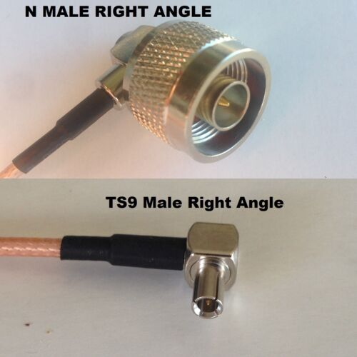 RG316 N MALE ANGLE to TS9 ANGLE MALE Coaxial RF Cable USA-US