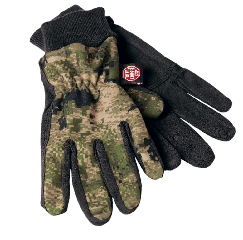 HÄRKILA Handschuhe Q-Fleece optifade ground forest - Gore-Windstopper