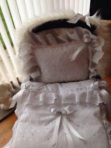 All WHITE DOLLS PRAM QUILT SET FOR SILVER CROSS COACH BUILT + FUR ... : dolls pram quilt sets - Adamdwight.com