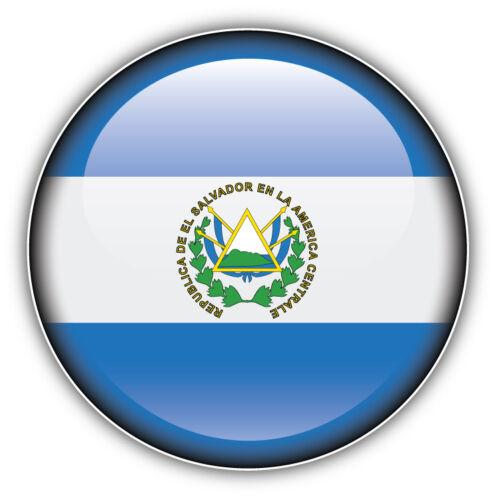 El Salvador Glossy Flag Label Car Bumper Sticker Decal 5/'/' x 5/'/'