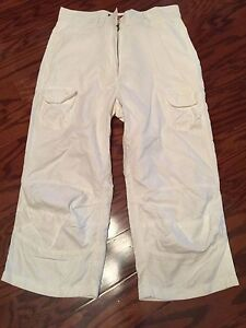 New Replay Made in Italy Girls White Capri Pants Size 26 Lots of ...