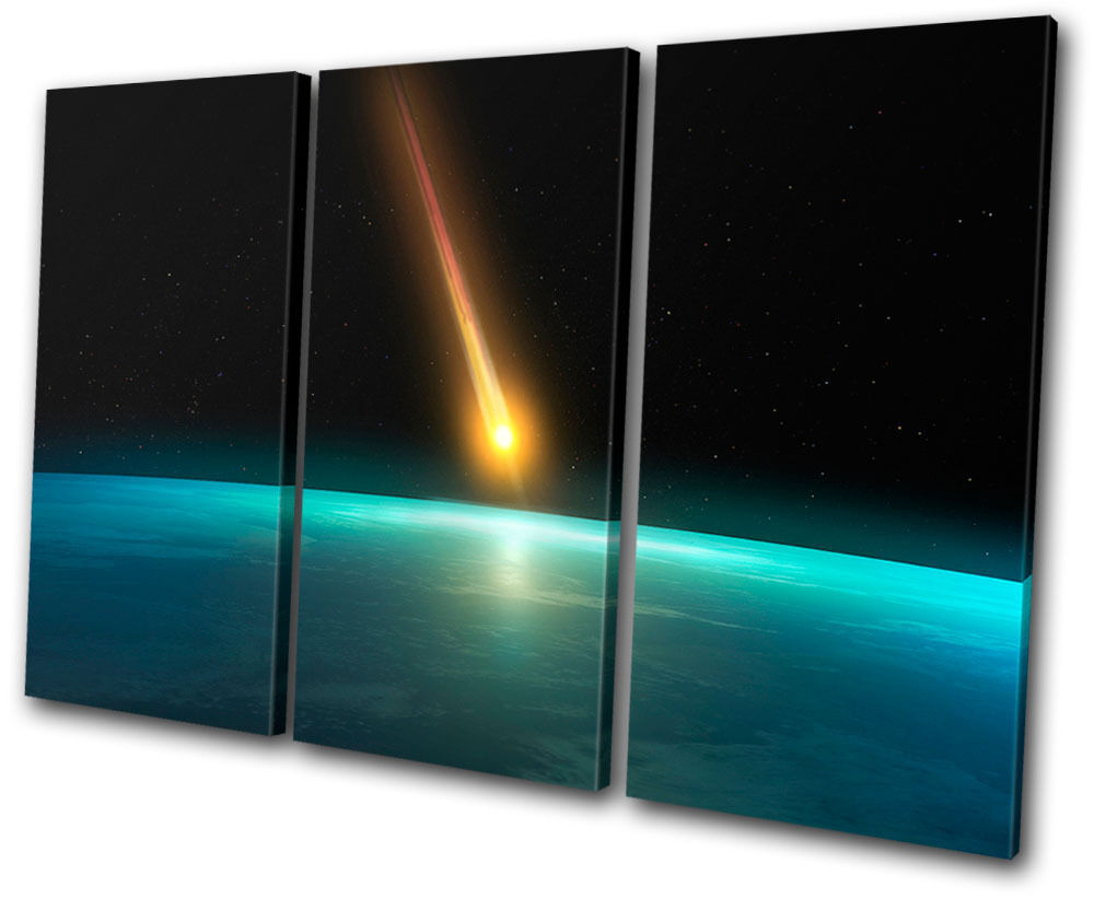 Space Meteor SCIENCE TREBLE Leinwand Wand Kunst Bild drucken