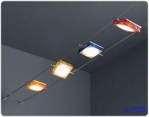 Milo led kit tesata con lampade orientabili in vari colori con
