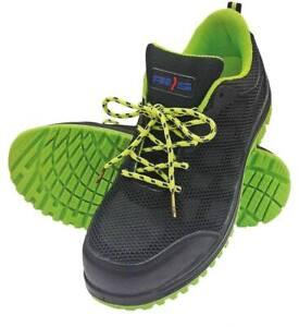 Détails sur Chaussure de sécurité sans métal, DÉSTOCKAGE basket de sécurité homme S1 P noir
