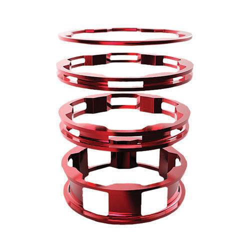 "BOX BMX ZERO HEADSET SPACERS RED 1/"" 5//PK"