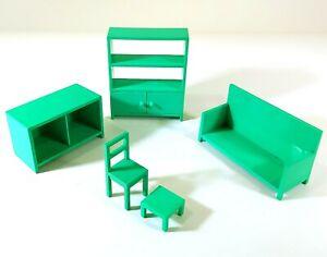 IKEA Maison de Poupées Meubles Vert Salon O697