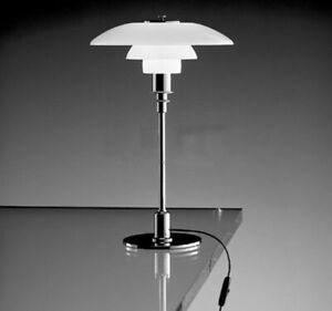 Modern Denmark Light White Glass Lampshade Table Lamps LED Desk Lighting
