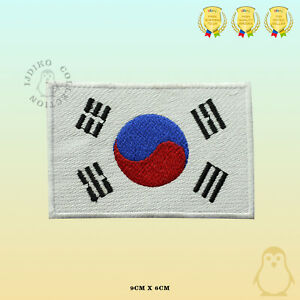 South-Korea-National-Flag-Embroidered-Iron-On-Sew-On-Patch-Badge-For-Clothes-Etc