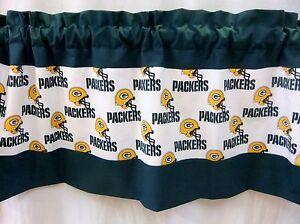 Green Bay Packers Nfl Football Gold Custom Valance Curtain 40 52 80 X 13 Ebay