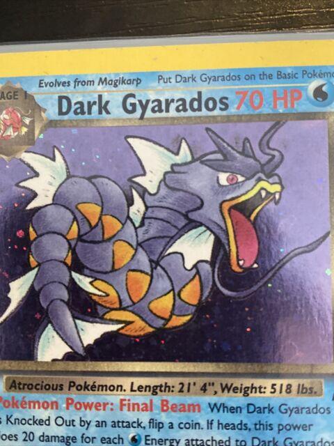 Dark Gyarados Rare Holo 8/82 Pokémon Team Rocket