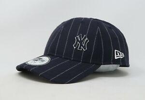 9f772fa84c254 NEW ERA 4940 MLB NY Yankees Pinstripe Dark Navy White Stretch Fit ...