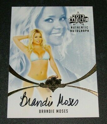 2013 Benchwarmer Brandie Moses National Black Ink Autograph Playboy Easy Rider