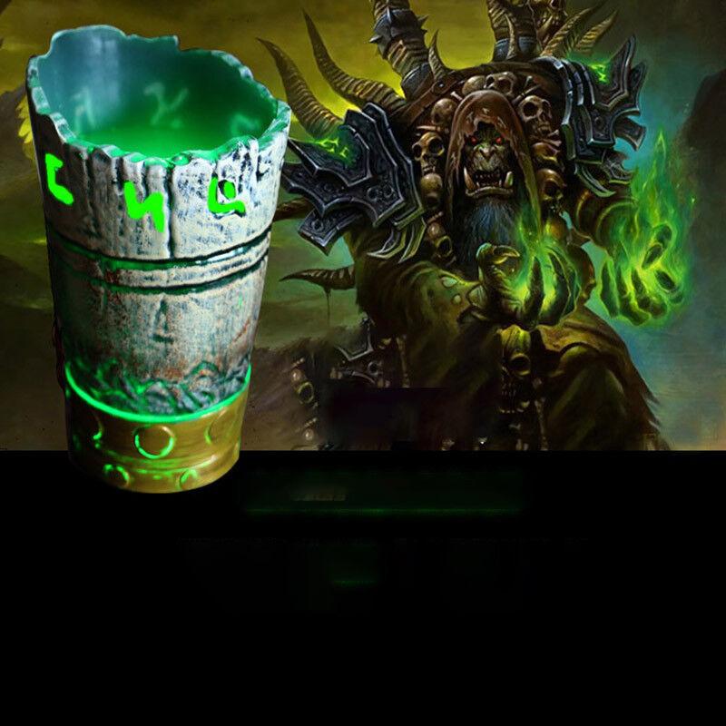 3D Film de Warcraft Jouet lumineux Cup Gul 'Dan Démon sang Guerrier gobelet en Acrylique eau