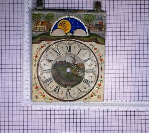LARGE-HANDPAINTED-DIAL-FOR-DUTCH-FRIESIAN-STOEL-CLOCK-WITH-DATE-AND-MOON
