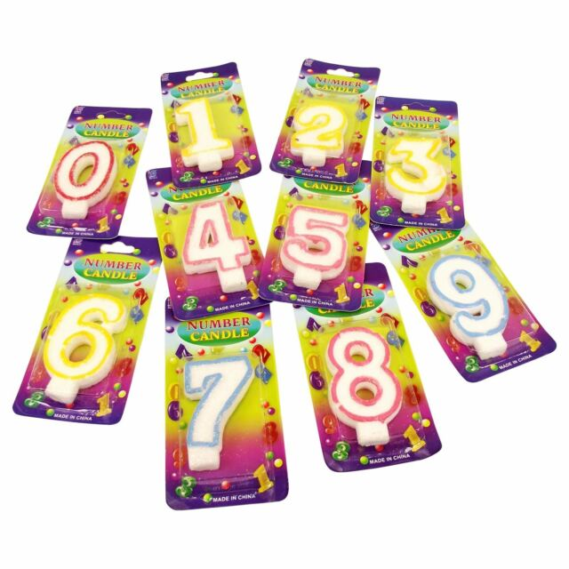 Wholesale 100x Number Birthday Candles