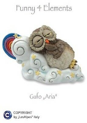 GUFI LES-ALPES 4 ELEMENTI GUFO ARIA IN RESINA 014 92355 - Gufetto