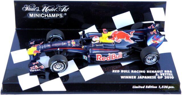 Minichamps 1/43 Red Bull RENAULT Rb6 S. Vettel de Japón Gp Japón 2010 410100305