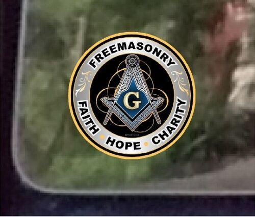 """Charity/""""Compass Hope Faith Masonic Series /""""Freemasonary One ProSticker 091V"""