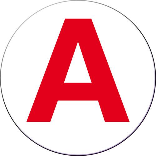 2 x sans fond lettre adhésive A ROUGE AUTOCOLLANT 10x10 cm sans fond 2ex.