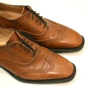 billy reid wingtip brown leather oxford shoes mens size 8