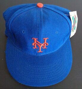 b46e921727c Vintage 1990s NewEra Fitted Hat 6 5 8 New York Mets MLB Diamond ...