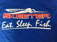 Skeeter Blue S/s Tee-shirt With Logo On Front And Skeeter Bug Logo On Back