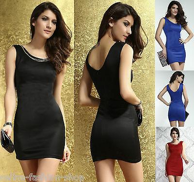 Sexy Minikleid Kleid Dress Party mit goldfarbener Metallkette Gogo Gr. 34 36 38