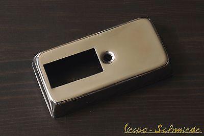 VESPA Abdeckung Blinkerschalter - EDELSTAHL - PK / PX Blinker Schalter Chrom XL