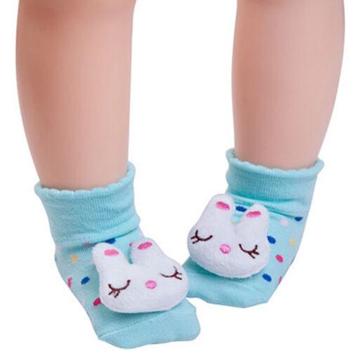 Toddler Baby Kids Cartoon Socks Anti-slip Shoes Boots Floor Slipper Warm Gift
