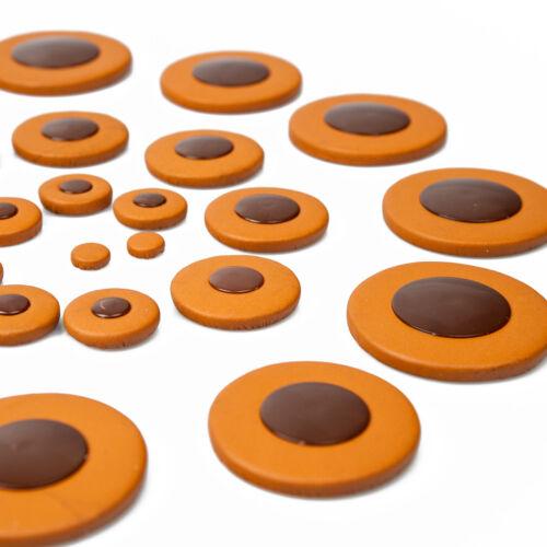 Pack 25pcs Saxophon Leder Pads Kaffee für Tenor Sax Ersatzteile