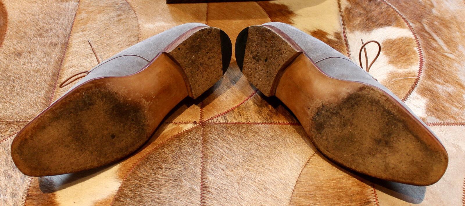 Edward Grün - Flannel grau Suede schuhe - Größe Größe Größe 8.5   9 E - Excellent    578039