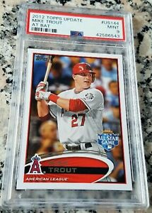 MIKE-TROUT-2012-Topps-Update-At-Bat-PSA-9-SP-ROY-MVP-Los-Angeles-Angels-HOT