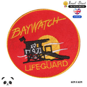 Baywatch-Movie-Embroidered-Iron-On-Sew-On-Patch-Badge-For-Clothes-etc