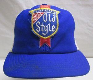 3f5758e49ba0d Vintage Heileman s Old Style Brewing Beer Hat Snapback Mesh ...