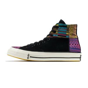 Converse-Chuck-Taylor-Hi-70-039-s-BHM-in-Black-Egret-Yellow-165556C-Size-7-5-13