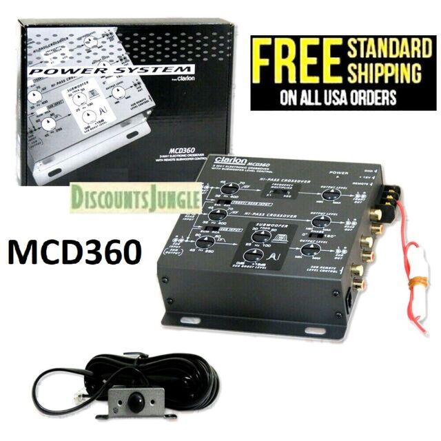 Clarion MCD360 2//3 Way Crossover